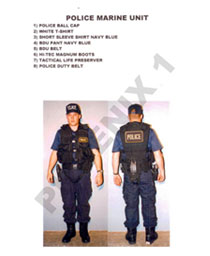 POLICE MARINE UNIT COSTUMES
